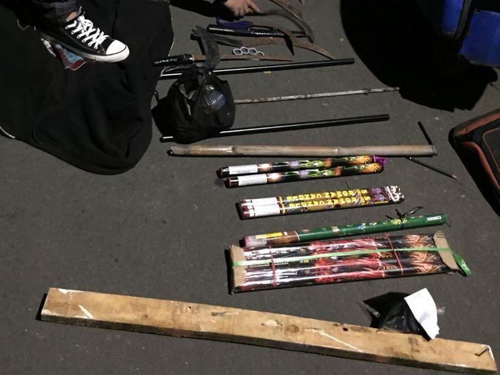 Tawuran Remaja di Jaksel, 12 Sajam dan 7 Motor Disita Polisi
