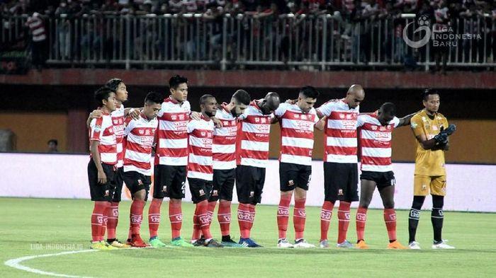 Madura United ada di posisi ke-10. Transfermarkt menaksir nilai skuat mereka sekitar Rp 49,6 miliar. (Foto: dok: Liga-Indonesia.id)