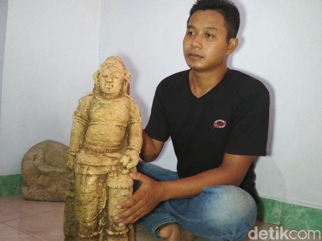 Remaja di Trenggalek Temukan Arca Dewa Brahma