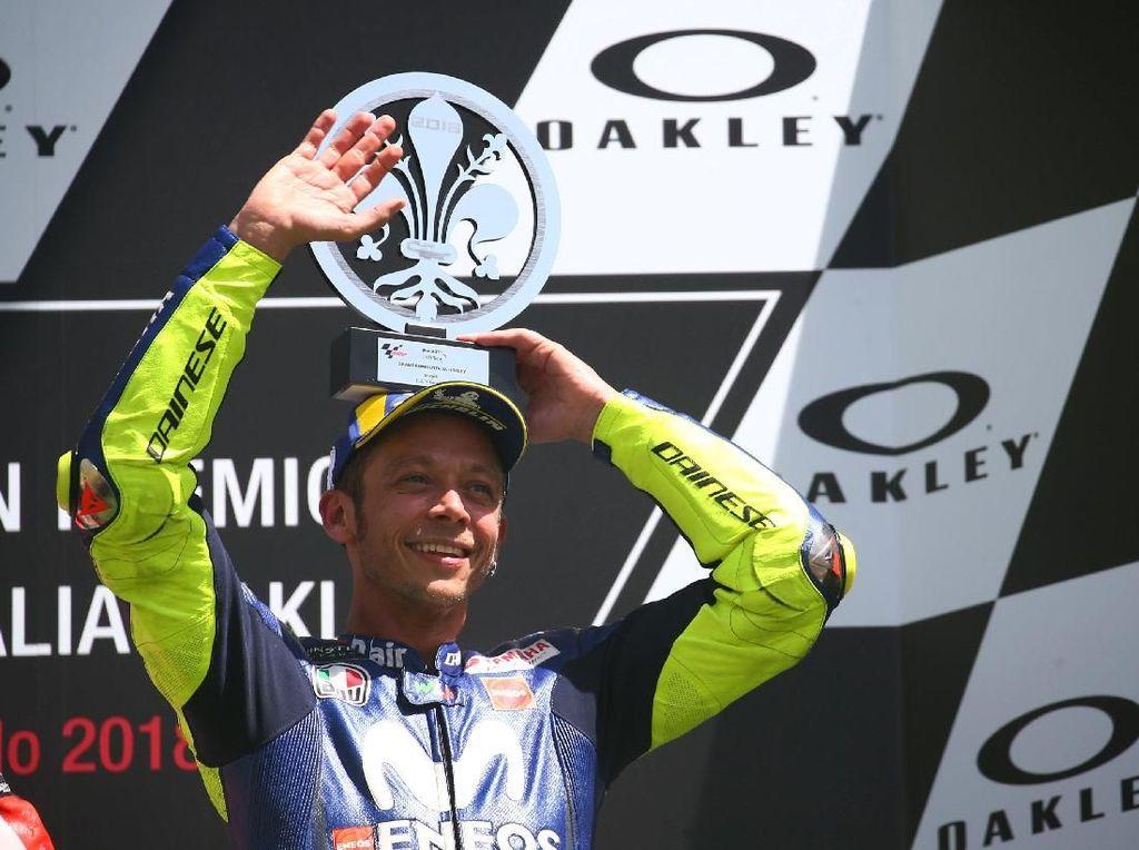 Naik Podium Lagi, Rossi Ingatkan Yamaha Masih Ada Tugas Besar