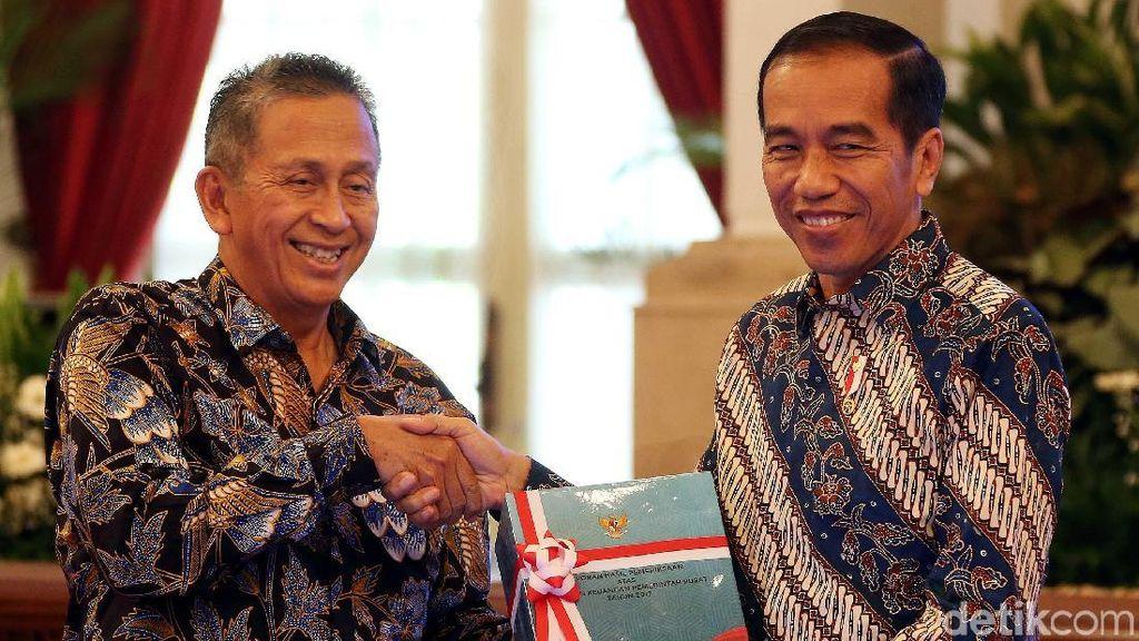 Jokowi Terima Hasil Pemeriksaan Keuangan Pemerintah dari BPK