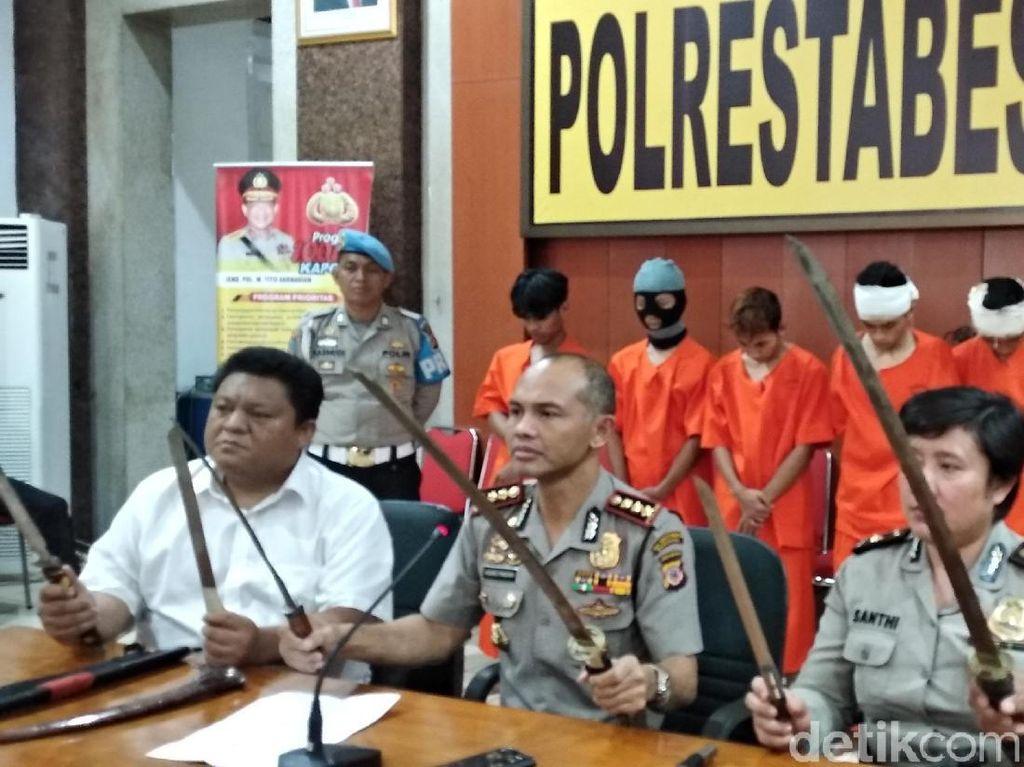 Hendak Menyerang, 7 Pemuda Geng Motor di Bandung Ditangkap