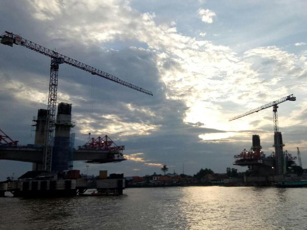 Kejar Asian Games, Jembatan Musi IV Sepanjang 1,3 Km Terus Dikebut