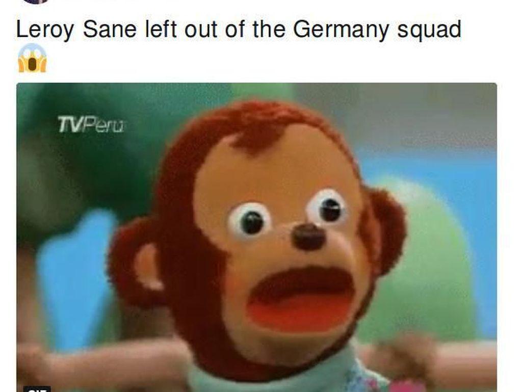 Parodi Pencoretan Leroy Sane dari Skuat Timnas Jerman