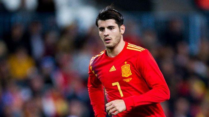 Alvaro Morata kembali dipanggil masuk skuat Timnas Spanyol untuk Nations League bulan ini (Aitor Alcalde/Getty Images)