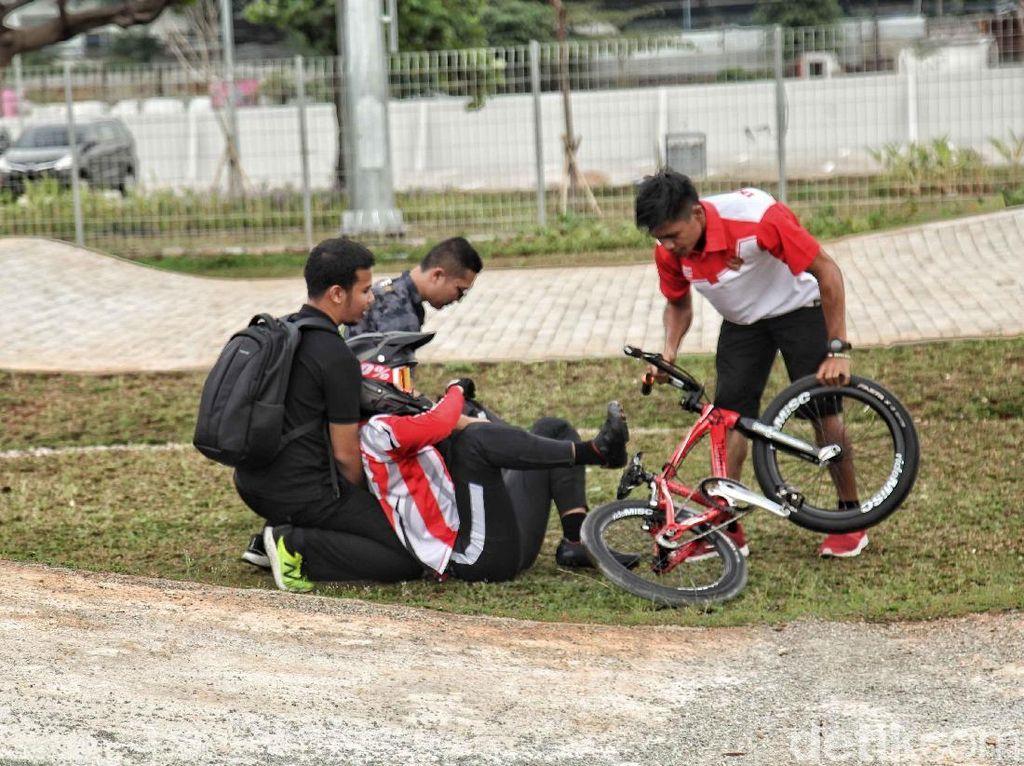 Cedera Kambuh, Elga Kharisma Berpotensi Absen di BMX Asian Games 2018