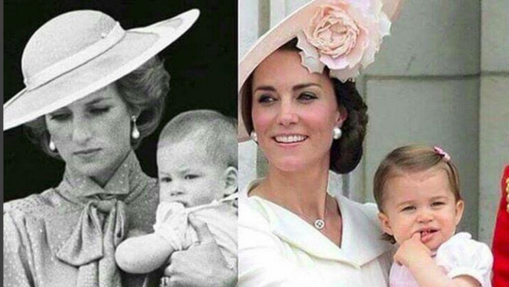 Kemiripan Kate Middleton dan Putri Diana Saat Bersama Anak