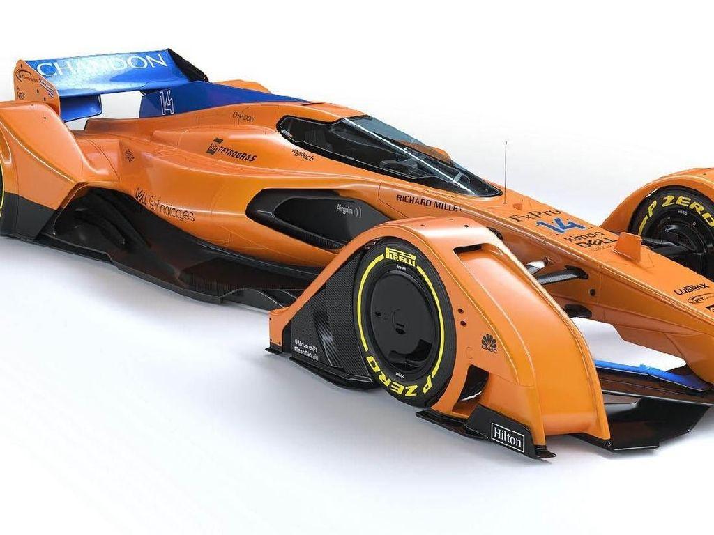 Prediksi Bentuk Mobil Balap Masa Depan McLaren