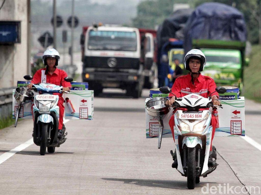 130 Motor Bakal Keliling Bawa BBM di Jalur Arteri Pulau Jawa saat Mudik
