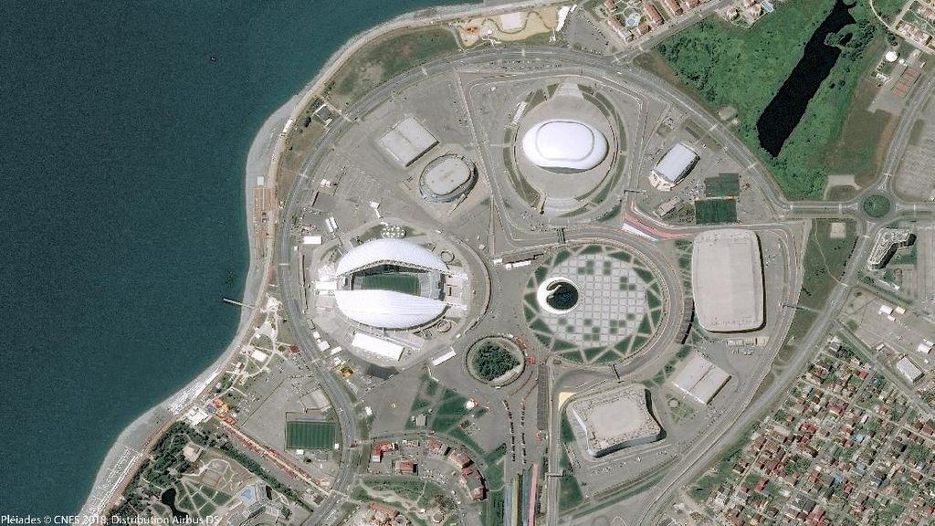 Foto: Penampakan Stadion-stadion Piala Dunia 2018 dari Citra Satelit