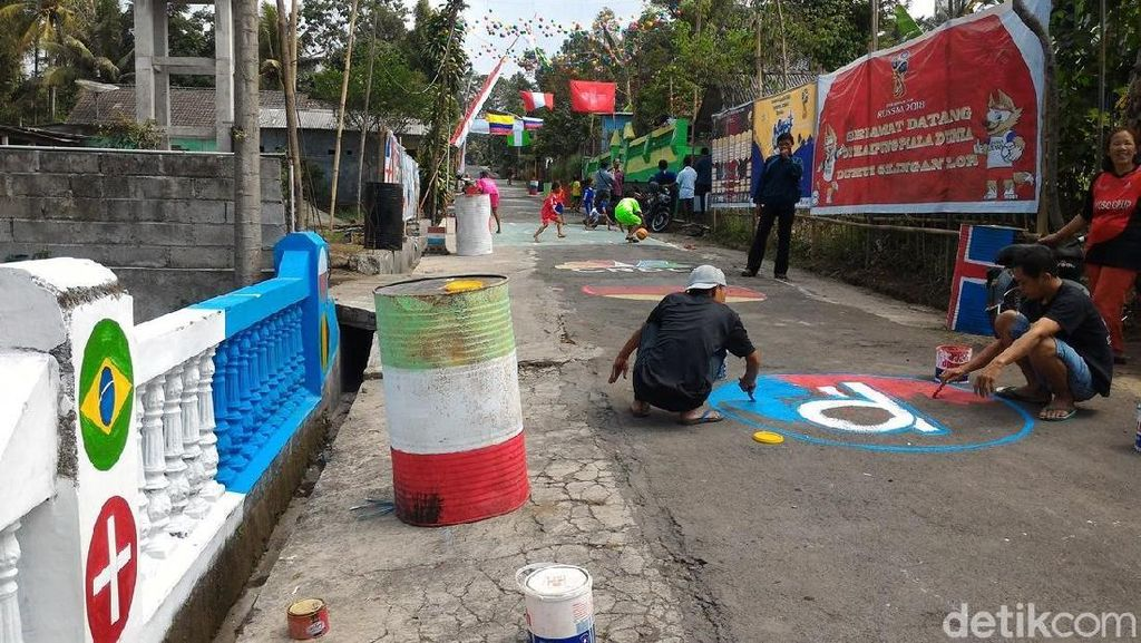 Mengintip Warna-warni Meriahnya Kampung Piala Dunia di Boyolali