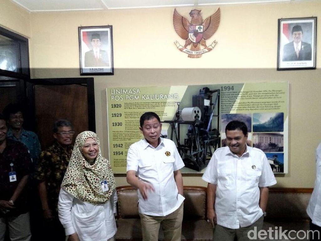 Menteri ESDM Cek Pos Merapi di Kaliurang