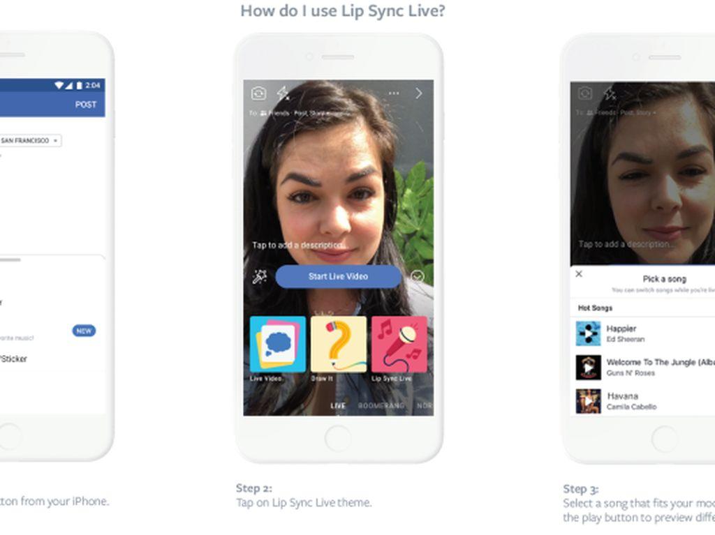 Facebook Ikut Merambah Tren Video Lip-Sync