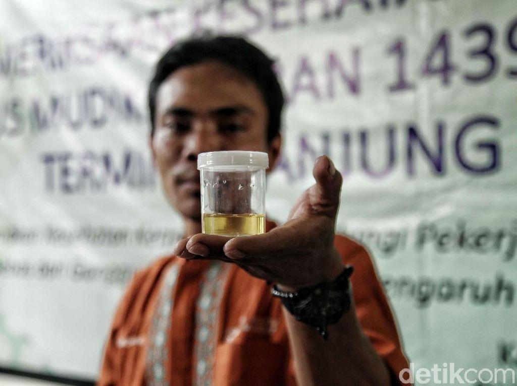 Sopir Bus AKAP Jalani Tes Kesehatan di Terminal Tanjung Priok