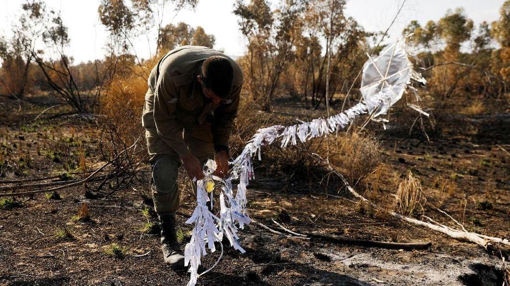 Penampakan Layang-layang Palestina yang Teror Israel