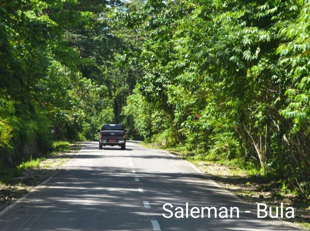 Mulus! Ini Lho Jalan Trans Maluku di Pulau Seram
