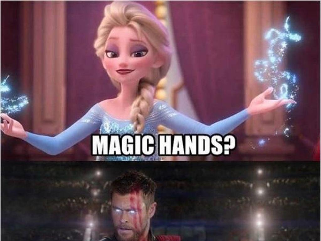 Avengers Vs Disney Princess dalam Balutan Meme Kocak