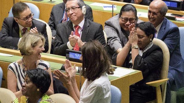 Kala Merah Putih Terpancang Lagi di Panggung DK PBB
