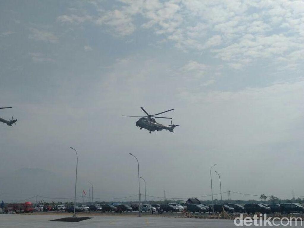Pakai Helikopter, Menteri-menteri Jokowi Pantau Kesiapan Mudik di Ngawi