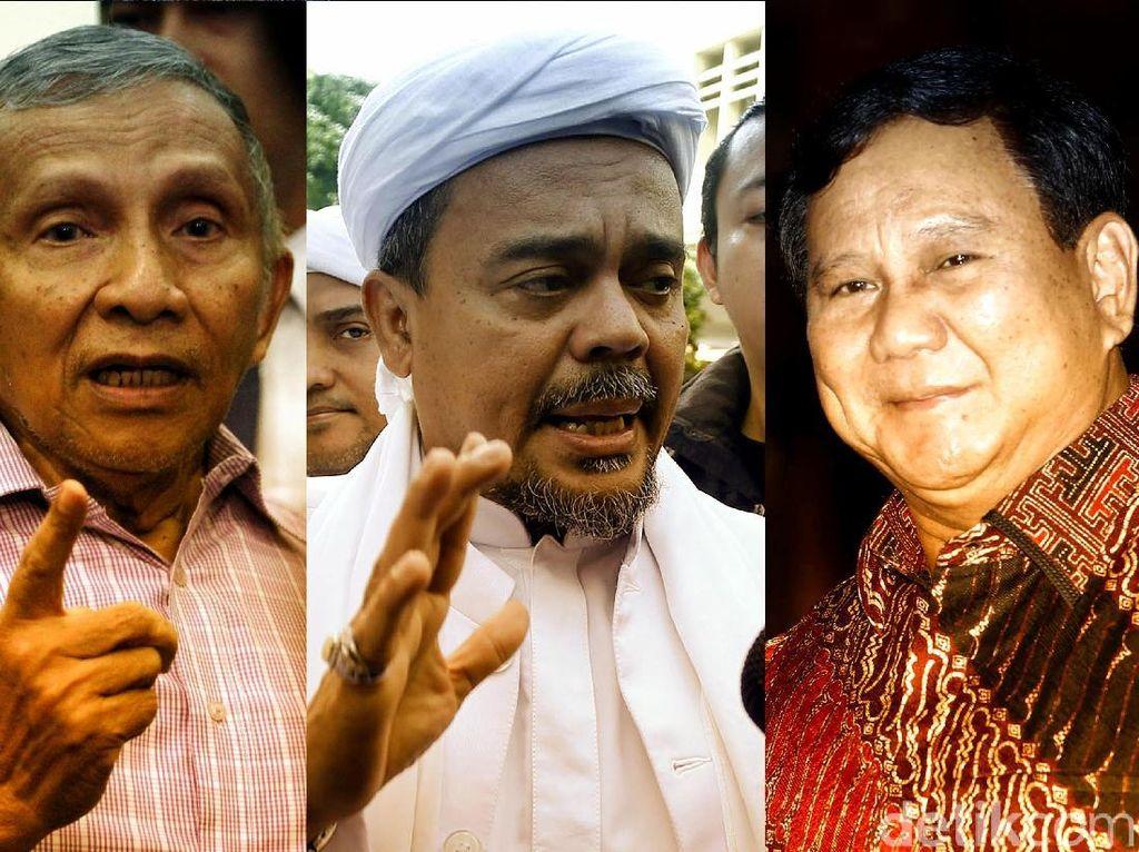Kandidat Lawan Jokowi: Prabowo, Habib Rizieq Hingga Amien Rais