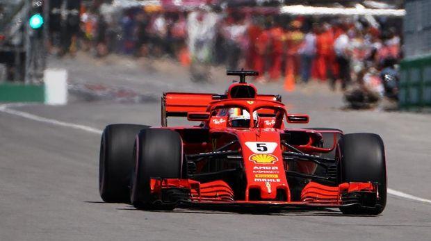 Sebastian Vettel harus puas start dari posisi kedua di GP Amerika Serikat.