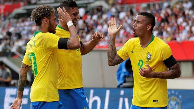 Timnas Brasil salah satu kandidat juara Piala Dunia 2018.