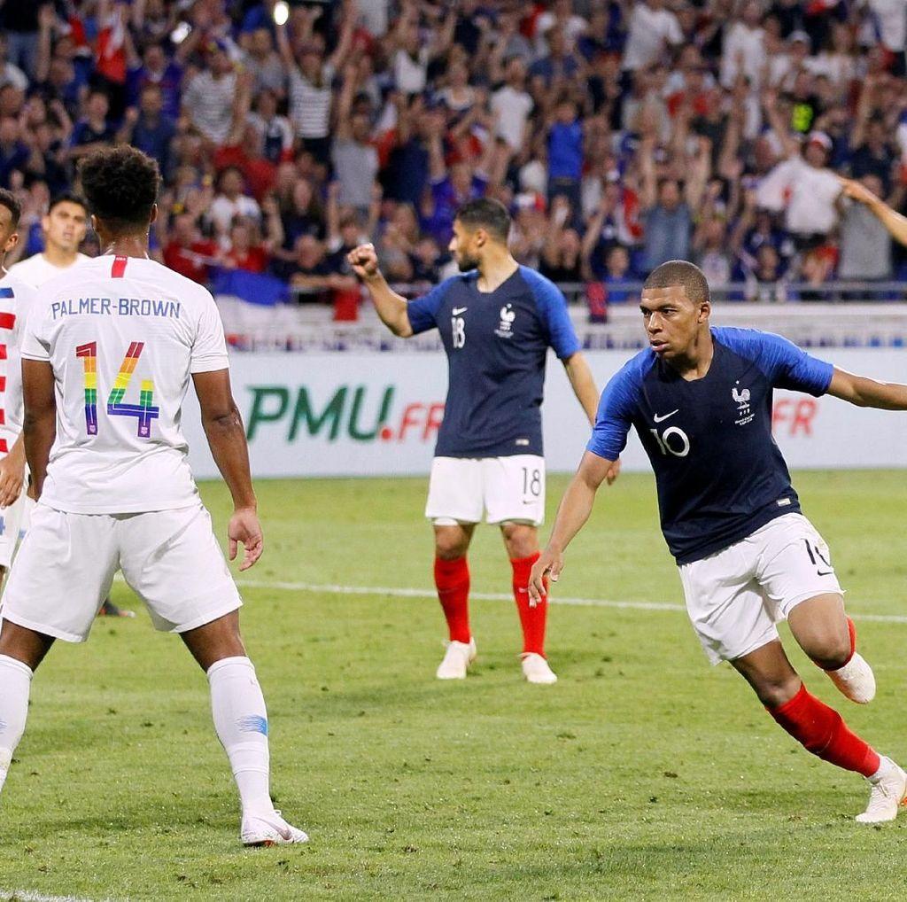 Prancis Diimbangi Amerika 1-1