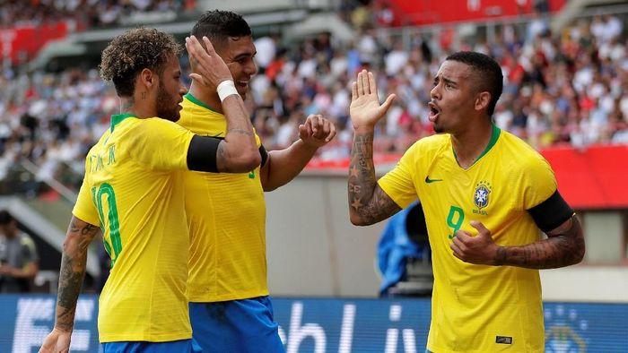 Brasil menang 3-0 atas Austria pada laga pemanasan terakhir sebelum Piala Dunia 2018 (Foto: Heinz-Peter Bader/Reuters)