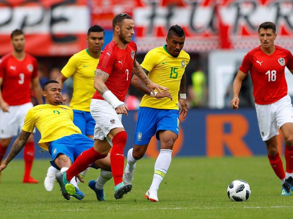 Foto: Brasil Menangi Laga Ujicoba Terakhir Sebelum Piala Dunia 2018