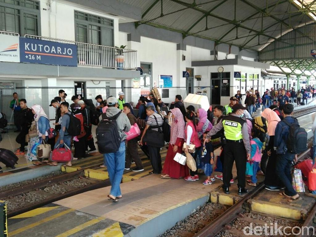 H-4 Lebaran, Pemudik di Stasiun Kutoarjo Naik 19% dari Tahun Lalu