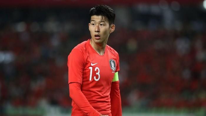 DAEGU, South Korea - MAY 28:  Son Heung-Min of South Korea in action during the international friendly match between South Korea and Honduras at Daegu World Cup Stadium on May 28, 2018 in Daegu, South Korea.  (Photo by Chung Sung-Jun/Getty Images)