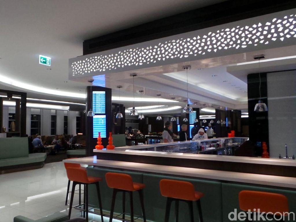 Foto: Lounge Mewah Kelas Bisnis Etihad di Abu Dhabi