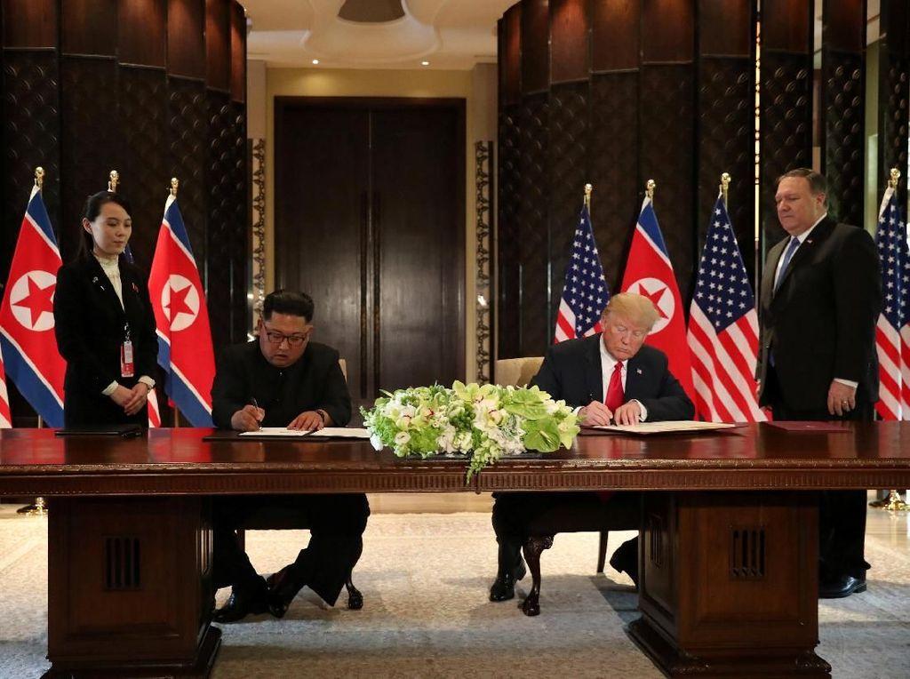 Butir-butir Pernyataan Bersama yang Ditandatangani Trump dan Kim