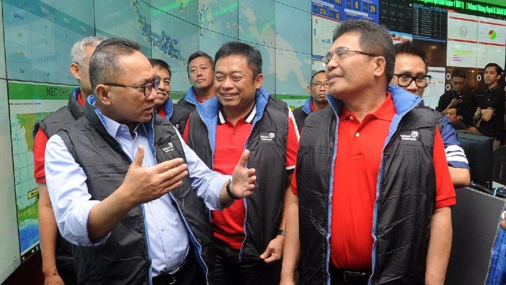 Ketua MPR Tinjau Kesiapan Infrastruktur Telekomunikasi