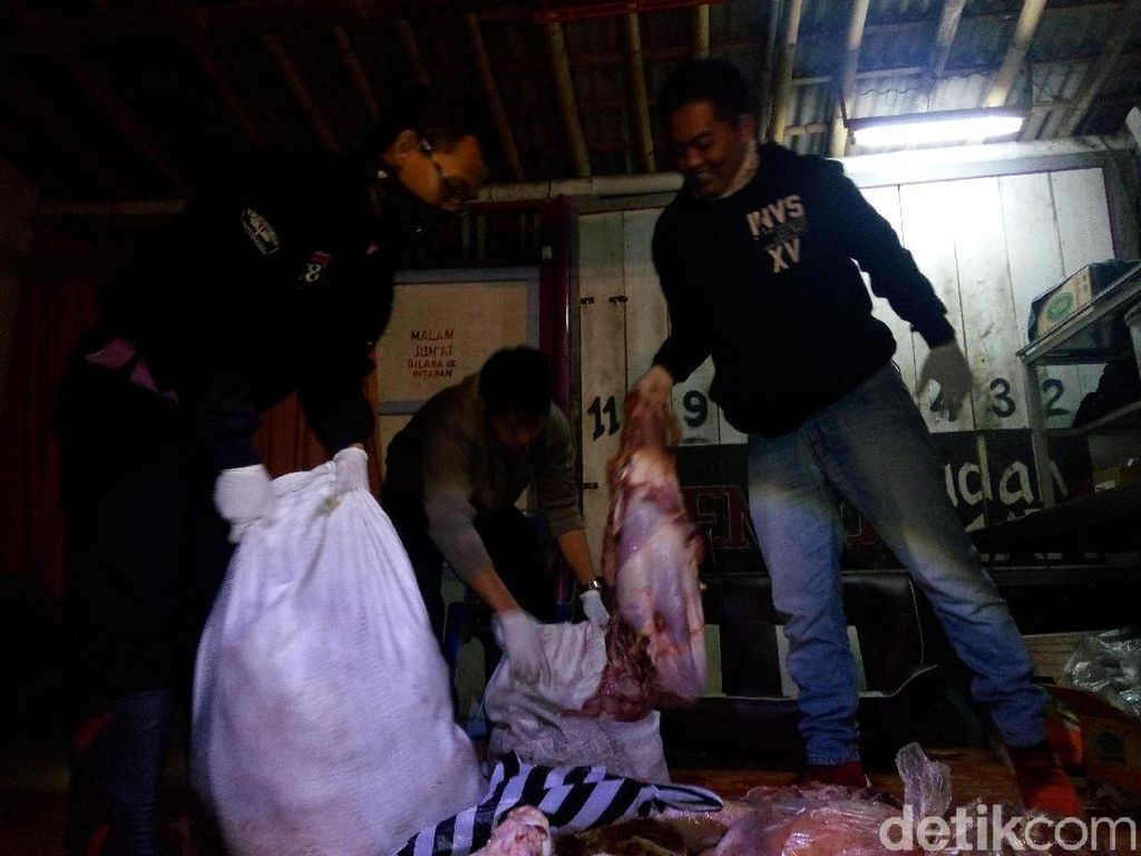 202 Kg Daging Gelonggongan Disita dari Penyuplai di Magelang