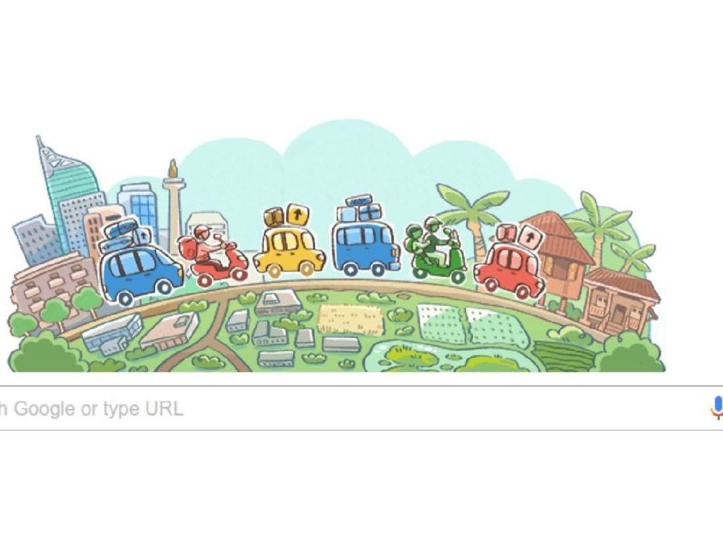 Google Doodle Ikutan Mudik