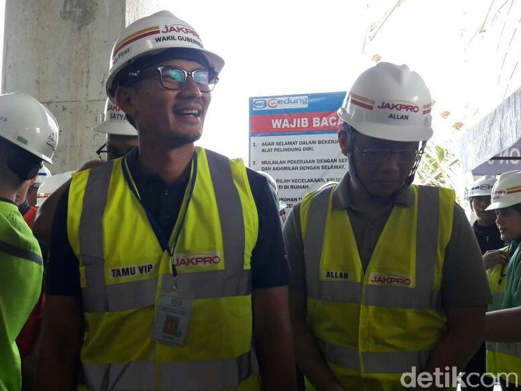 Sandi Ingin LRT Jakarta Gratis Selama Asian Games