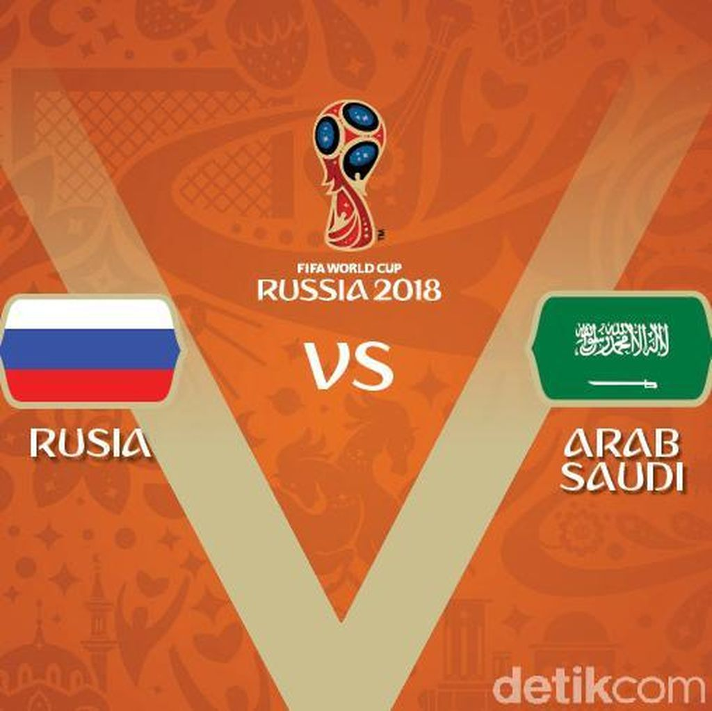 Live Report: Piala Dunia 2018 Rusia vs Arab Saudi