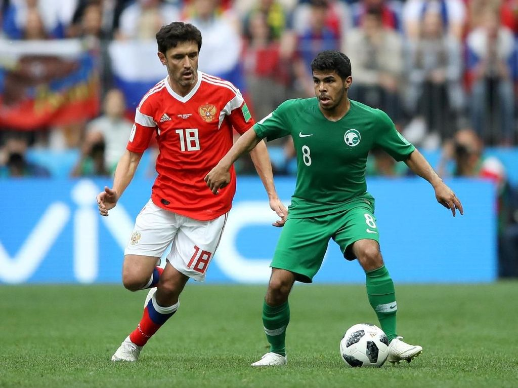 Babak I: Rusia Ungguli Arab Saudi 2-0