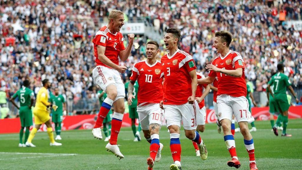 Pesta Lima Gol Rusia ke Gawang Arab Saudi