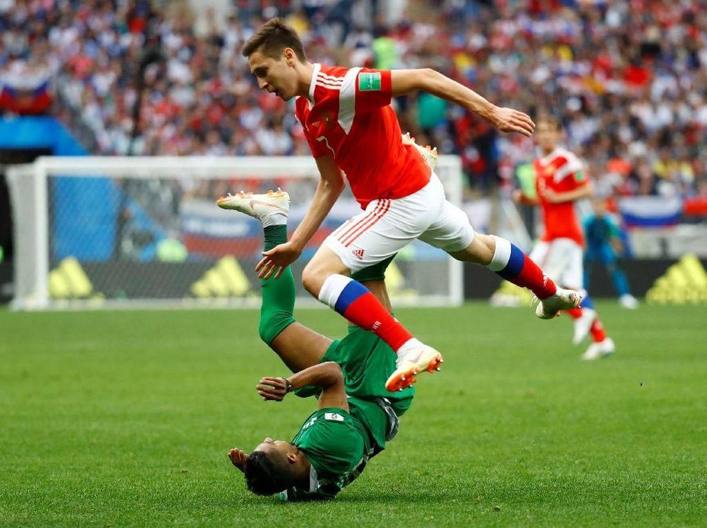 Hasil Pertandingan Piala Dunia 2018 Rusia vs Arab Saudi: 5-0