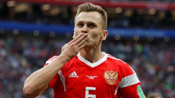 Pemain Rusia, Denis Cheryshev. (Foto: Grigory Dukor/Reuters)