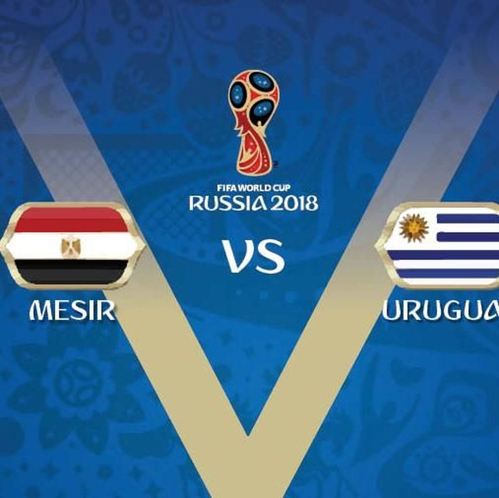 Live Report Piala Dunia 2018: Mesir vs Uruguay