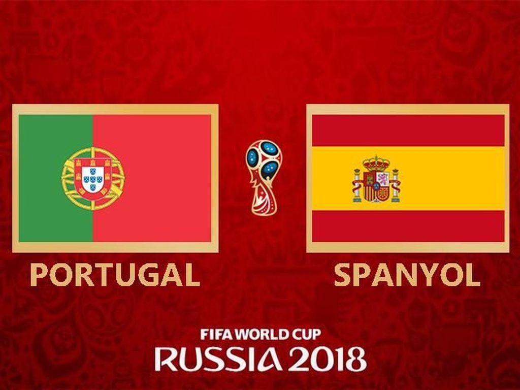 Live Report Piala Dunia 2018: Portugal Vs Spanyol