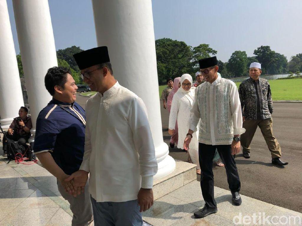 Hadiri Open House Jokowi, Anies-Sandi Sempat Disoraki Warga