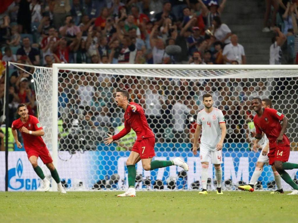 Ronaldo Hat-trick, Portugal vs Spanyol Berakhir 3-3