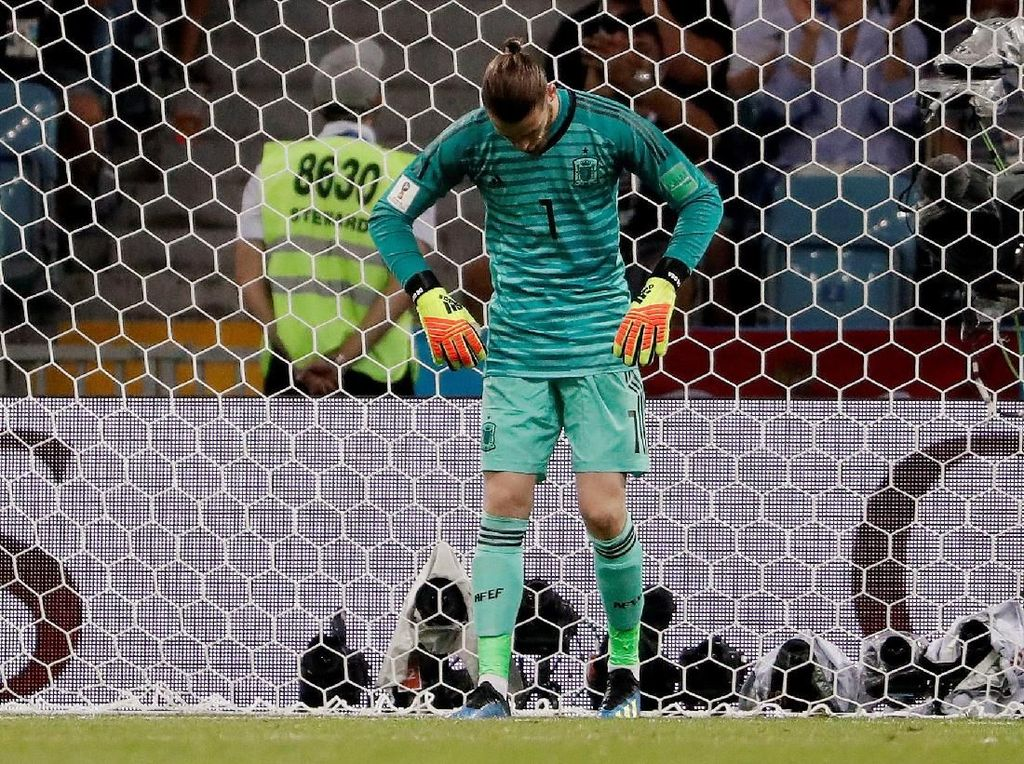 Hanya De Gea Kiper yang Belum Catatkan Penyelamatan di Piala Dunia 2018