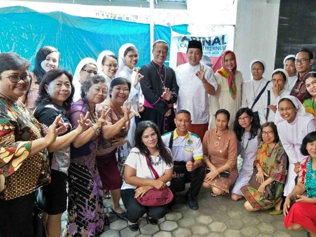 Momen Lebaran, Cagub Arinal Janji Bawa Kedamaian bagi Semua Umat
