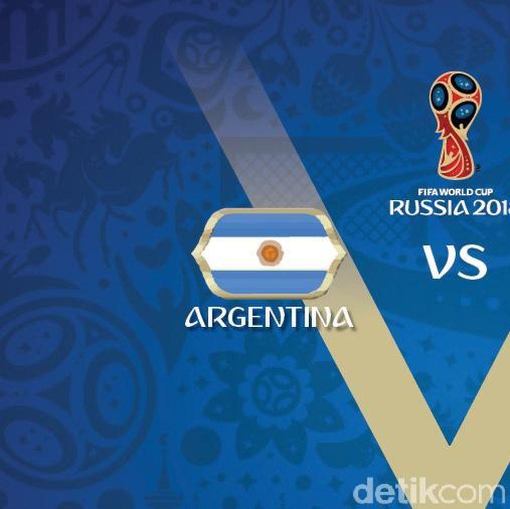 Live Report Piala Dunia 2018: Argentina vs Islandia