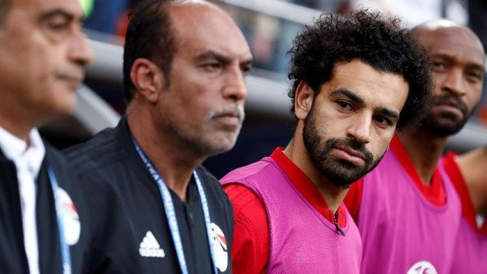 Mohamed Salah masih menjadi penonton saat Mesir dikalahkan Uruguay. (Foto: Damir Sagolj/Reuters)